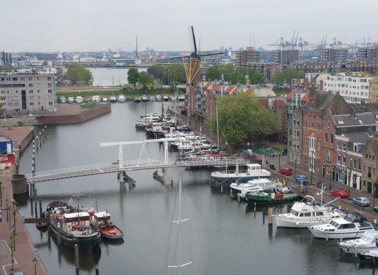 Delfshaven, VLD, Achterhaven, Molen, Rotterdam, Boten